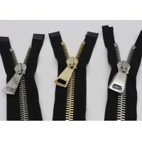 China 28 Inch Reversible Long Heavy Duty Metal Zippers Gold And Silver Teeth For Bags wholesale