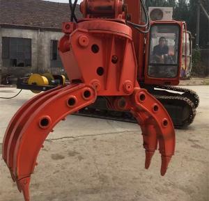 China Medium Hydraulic Grapple Equipment with Bucket teeth 21.5Mpa Voltage on sale
