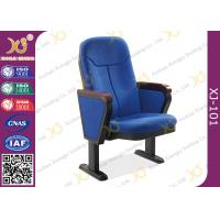 China 560mm Center Distance Fabric Cushion Auditorium Chairs Meeting Room wholesale