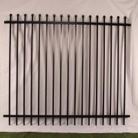 China Galvanised Steel Security Fencing,Tubular Panels 2.1M H x 2.4M W Black wholesale