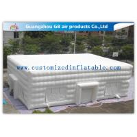 Anti - UV Large Inflatable Cube Marquee White Advertising Inflatable Tent