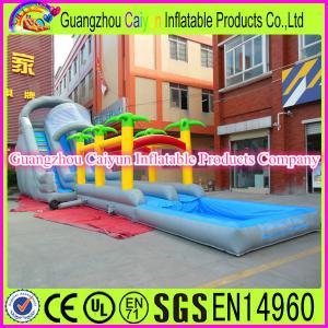 China Giant Inflatable Water Slip Slide Jungle Water Slide wholesale
