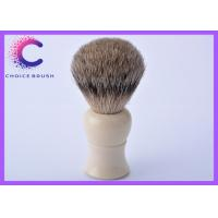China Handmade shaving brushes white handle with best badger for barber shop wholesale