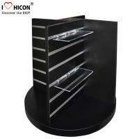 China Countertop Black Wood Slatwall Display Stands Rotating For Retail Store / Shops wholesale