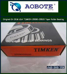 China USA original series chrome steel KOYO / Timken Tapered Roller Bearing 25590 / 25520 wholesale