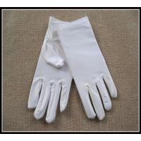 China Wholesale top quality white/black color spandex gloves for jewerllery/Ceremonial wholesale