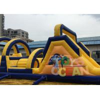 Quality Long Obstacle Course Inflatable Rentals Funny Commercial Obstacle Race For Outdoor for sale
