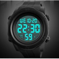 China Skmei Young Fashion Big Dial Men 50m Waterproof 5 ATM Chronograph Silicone Strap Wrist Watches 1305 wholesale