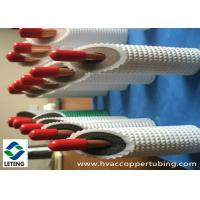 China Rigid Refrigeration Copper Pipe , PE Plastic Coated  Hard Copper Tubing  wholesale