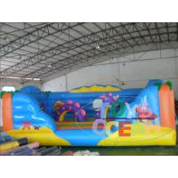 China Mini Toddler Inflatable Bouncy Castle Ocean World Moonwalk House For Backyard Fun wholesale