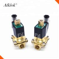 China N/O 1 Inch Brass High Temperature Solenoid Valve Polit Type For Water Gas Oil wholesale