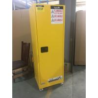 China Yellow Industrial Safety Cabinets , Flame Proof Storage Cabinets With Double Lock with wheel wholesale