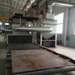 Steel Plate Roller Conveyor Shot Blasting Machine Improve Paint Film Adhesion