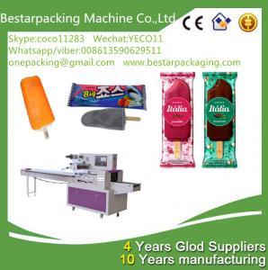 Quality High speed ice cream packing machine,ice cream bar wrapping machine,stick ice lolly packing machine for sale