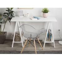 China Writing Contemporary Wood Computer Desk , Triangle Layout Legs For Stable Standing wholesale