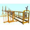 ODM Steel Adjustable Cradle Yellow High Working Rope Suspended Platform for sale
