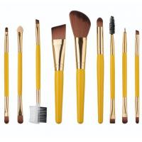 China 9 in 1 make up tools set  orange and yellow wholesale