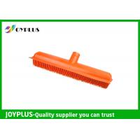 China Orange Color Garden Cleaning Tools Rubber Broom Head Durable HG0610-H wholesale