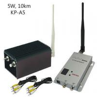 High Integrated CCTV Wireless Video Transmitter With 5000mW Output Power , AV Interface