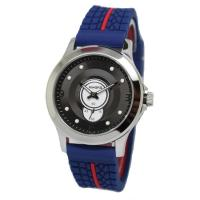 China 41.0mm men's round  rubber band quartz  wrist watch with  stainless steel case ,special movement wholesale
