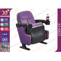 China Indoor Theater Auditorium Movie Theater Chairs Stadium Seating With Cup Holder wholesale