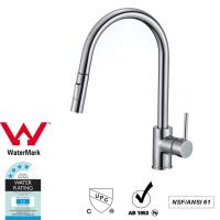 China Cupc Lead Free Brass Sink Pull out Mixer Tap 360 Swivel No Corrosion wholesale
