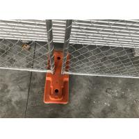 Buy cheap 8'x14' chain link fence panels for construction site heavy duty design cross brace tube 1⅝