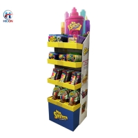 China Retail Store Fixtures Free Standing Cardboard Floor Display Stand wholesale