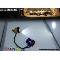 China 28000 Lux 3W LED Explosion Proof  IP68 Waterproof Mining Cap Lights with Warning Light Battery Box wholesale
