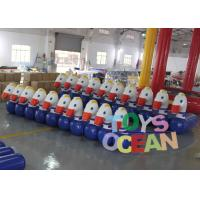 China Team Racing Inflatable Interactive Games Hops Horse Jump With Customized Size , 0.60mm PVC wholesale