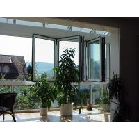 Quality Bedroom Energy Efficient Folding Glass Windows Silver Replacement Finish Surface for sale
