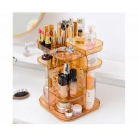 China Spinning holder storage rack 360 degree rotation square cosmetic makeup storage organizer for makeup brushes lipsticks wholesale