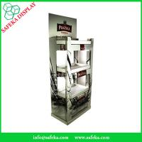 China Free Standing Promotion wine drinks display cabinet Rack paper Supermarket advertising tables Beverage for vodka wholesale