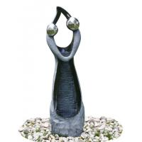 China Stone Color Statue Water Fountains , Decorative Garden Fountains For House wholesale