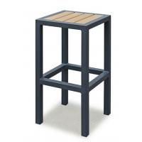 China Breakfast Metal Kitchen Bar Stools  , Metal Counter Stool With Wood Seat Without Backrest wholesale