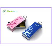 China Mini Pink Twist USB Sticks , Logo Laser Engraved Gifts USB Sticks wholesale