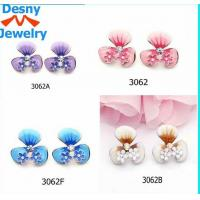 China 2012 new design wholesale earrings stud for young girls with various color wholesale
