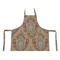 China Bib Type Flower Printed Cotton Canvas Material Women Kitchen Apron With Front Pocket wholesale
