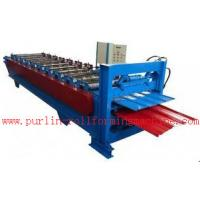 China Waterproof Corrugated Roof Tile Roll Forming Machine for Factory , Warehouse , Garage wholesale
