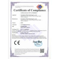 Guangzhou Infinity Technology Co., Ltd. Certifications