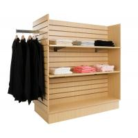 China Commercial Garment display rack / MDF four side retail clothes display stand hangers wholesale