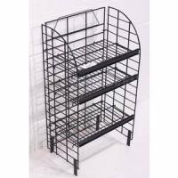 China Retail store unique wire storage rack shelving on wheels fixtures for display products wholesale