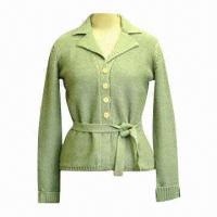 China Women's Knitted Cardigan in Mint Green wholesale