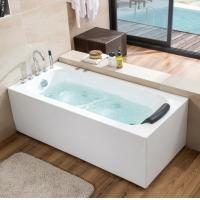 China Acrylic Whirlpool Hot Tub Freestanding Massage Bathtub Rectangle Shaped on sale