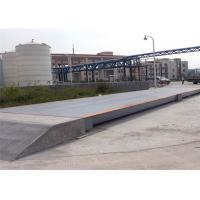 China 3x25m Size Electronic Lorry Weighbridge Large Screen Display With Steel Ramps wholesale
