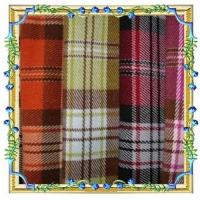 China 100% polyester plaid fabric wholesale