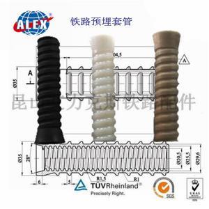 China Railroad parts supplier Rail Plastic HDPE PA66 Dowel on sale