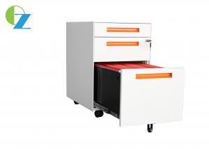 Assembly Big Secend Drawer Slim H570mm Mobile Pedestal File Cabinet Non KD