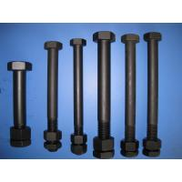 China Black Painted Low Carbon Steel Bolts DIN 931 High Strength For Sealing wholesale