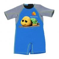 China Kid Jumpsuit Baby Wetsuit Bathing Suit 2mm Thermal Neoprene Swimwear with Tortoise wholesale